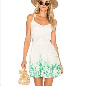 Free People Tropical Oasis Mini Jumper Dress